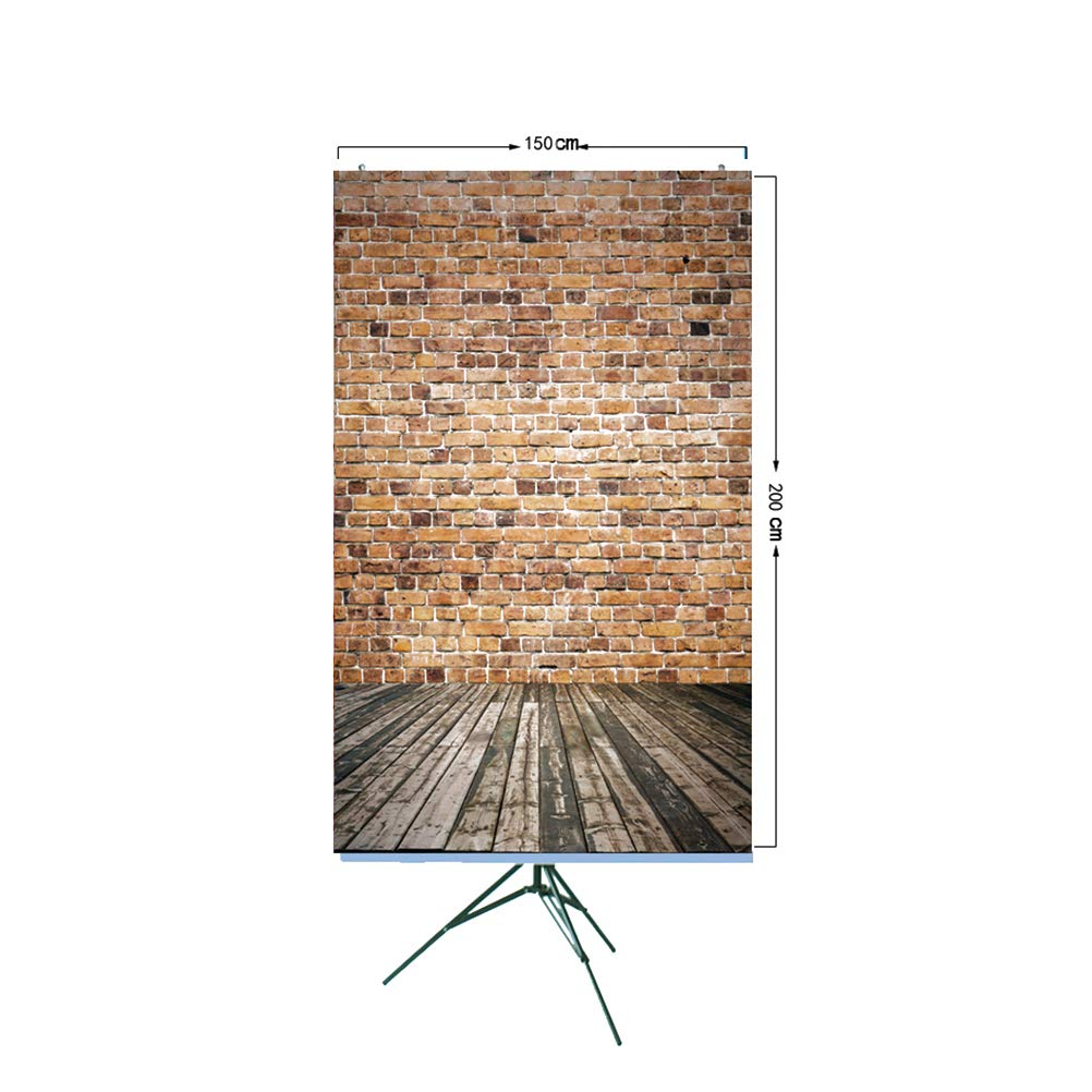 Wandplank 150 Cm.150x200cm Wall Backdrop Brick Wall Plank Floor Children Amazon In