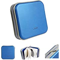 Saim Square CD DVD Bag Wallet 40 Capacity CD DVD Binder Disc Storage Case Wallet CD DVD Protection Box Case Holder Hard…