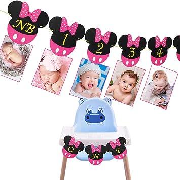 Amazon.com: Portafotos de Mickey Mouse para bebé, 12 meses y ...
