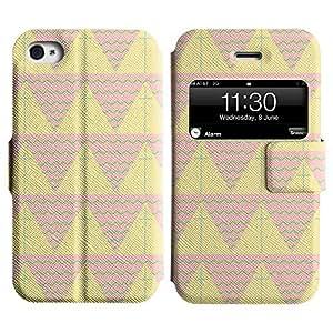 LEOCASE patrón de triángulo Funda Carcasa Cuero Tapa Case Para Apple iPhone 4 / 4S No.1007446