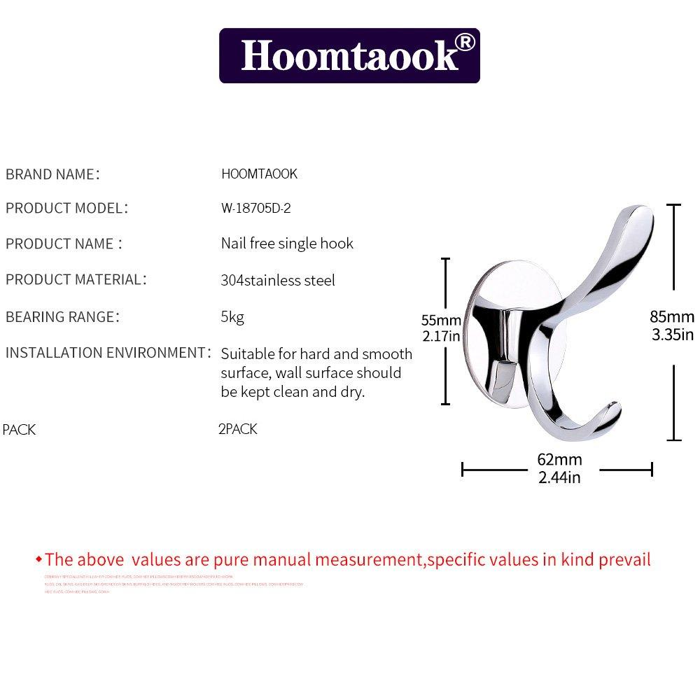 HOOMTAOOK Percha doble para baño 15664e86c1b8