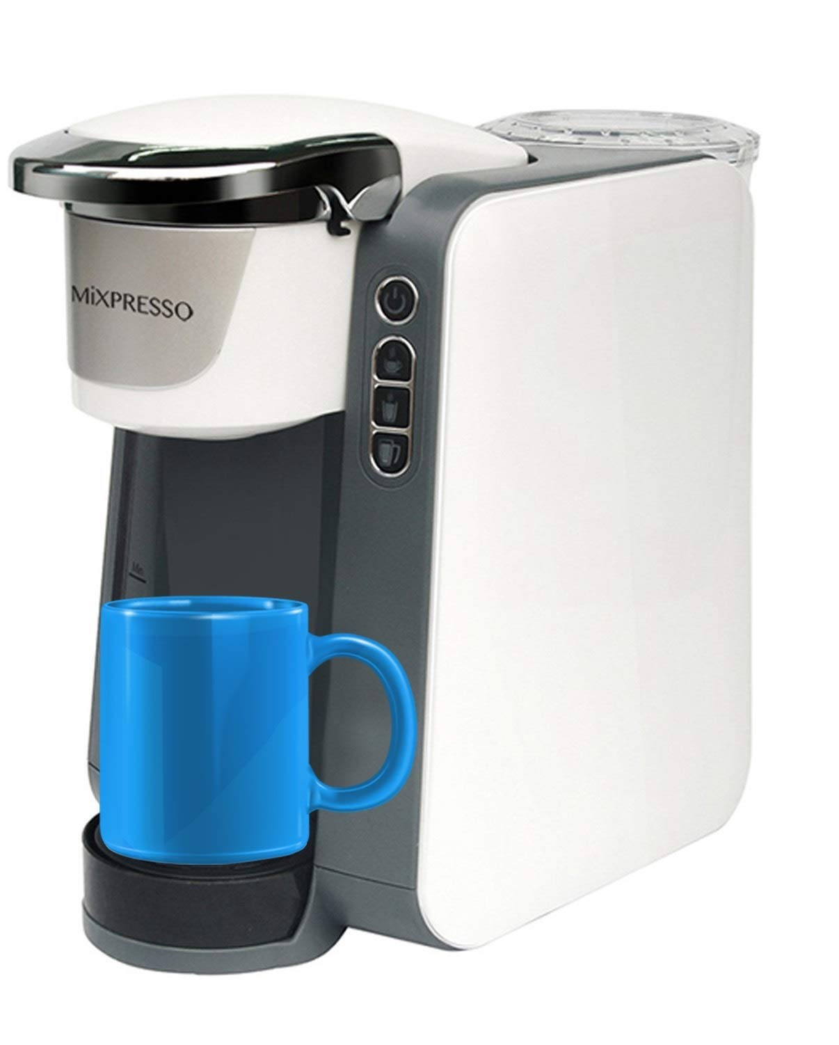 Mixpresso Single Serve K-Cup Coffee Maker Compatible With Most Single Coffee K Cups Including 1.0 & 2.0 K-Cup Pods, QuickBrew Technology And Removable 45oz Water Tank