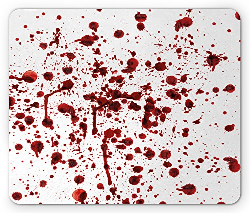 Ambesonne Horror Mouse Pad, Splashes of Blood Grunge
