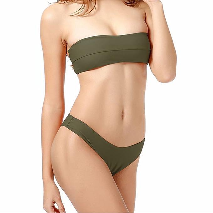 recherche d'officiel enfant boutique pour officiel Amazon.com: ADAHOP Women's Halter Bandeau Sexy Bikini Top ...