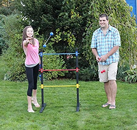 Amazon.com: BolaBall Ultimate Wooden Ladder Golf Game Set, Indoor or Outdoor with 6 Bolaball sets, Heavy Duty Carrying Case with Shoulder Strap, ...