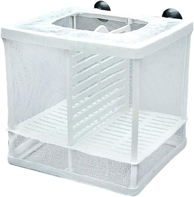 kongnijiwa Isolation Mesh Box Suction Cup Design Mesh Box Suction Fish Breeding Incubator Net Aquarium Hanging Hatchery Box
