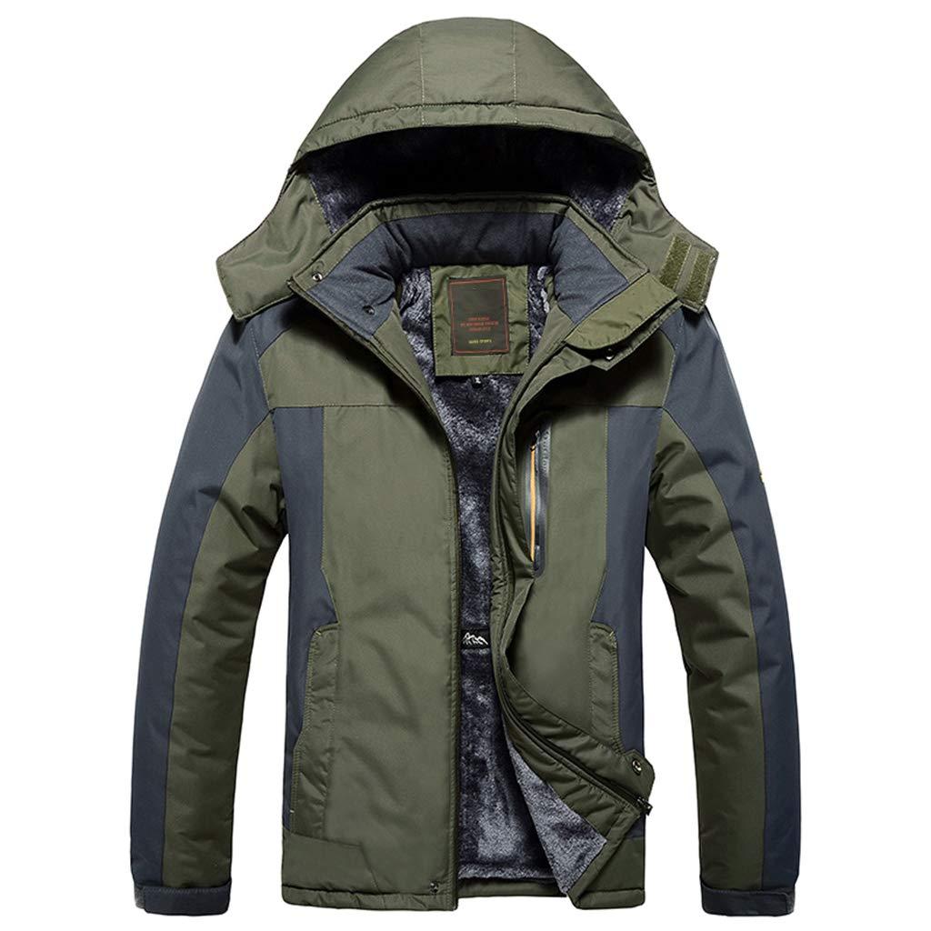 YXMYMM wasserdichte Jacken Herren wasserdichte Herren Softshell Jacke Winter-Taschen Softshell Ski Im Freien Raincoat