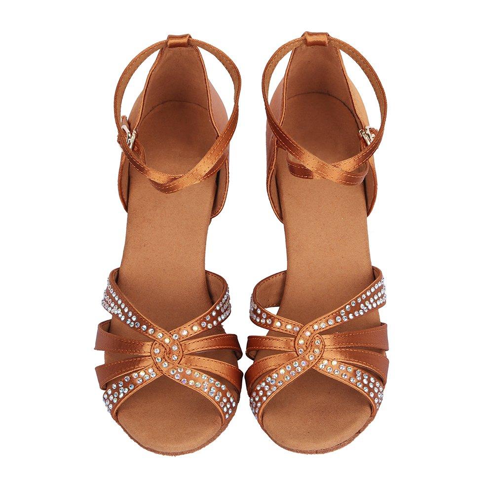 YKXLM Mujeres/&Ni/ña Zapatos Latinos de Baile Zapatillas de Baile de sal/ón Salsa Performance Calzado de Danza,Modelo ESAF409//420