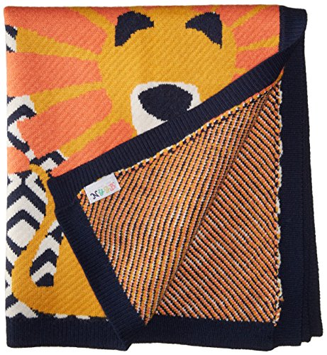 """Price comparison product image Toby & Company Baby Nygb Safari Collection Lion Blanket,  Navy,  30"""" X 26"""""""