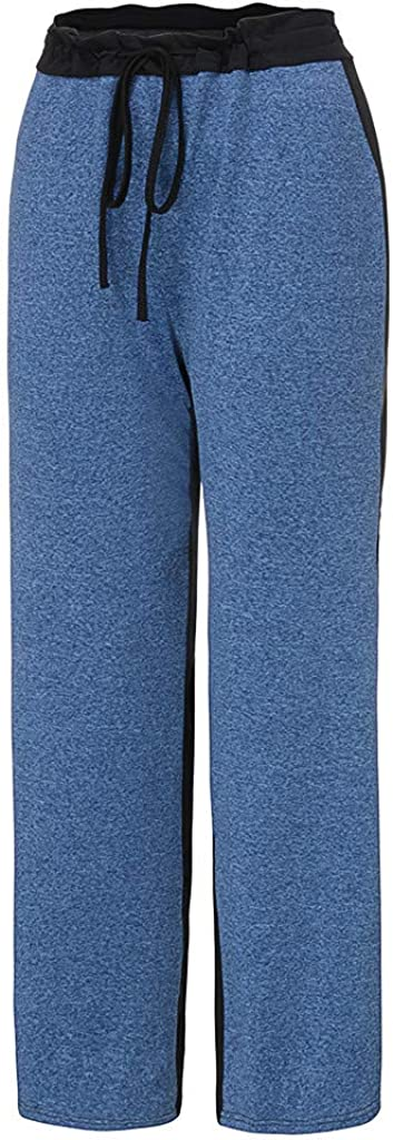 LISTHA Wide Leg Yoga Pants Women Causal Mid Waisted Bell Bottoms Flare Trousers