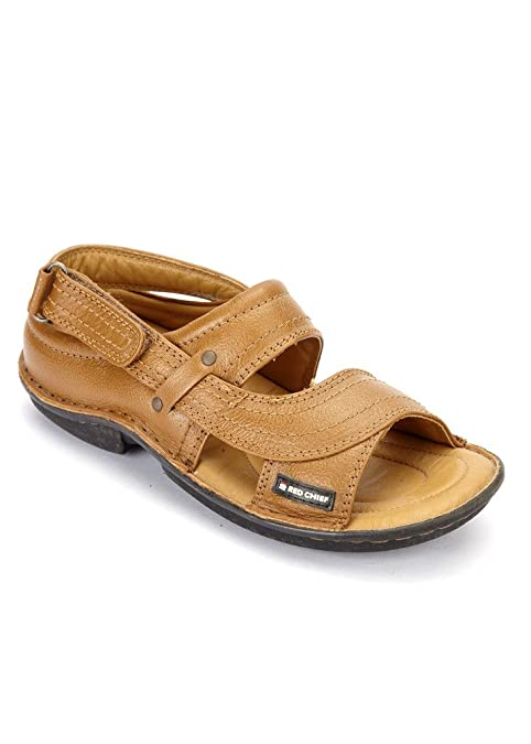 dfe230d52 RED CHIEF Leather TAN Sandal for Men  Buy Online at Low Prices in India -  Amazon.in