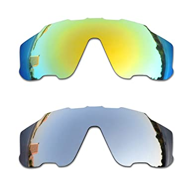 SOODASE Para Oakley Jawbreaker Gafas de sol Dorado/Plata 2 Pares ...