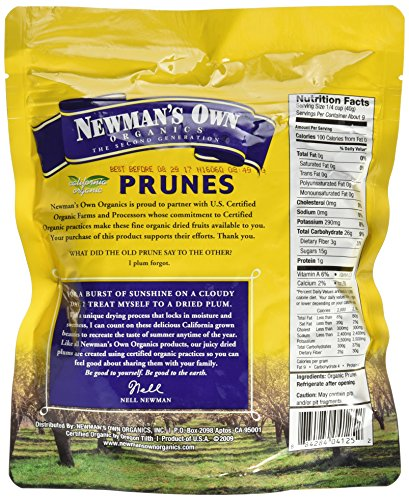 Newman's Own Organics California Prunes, Pouches, 12 Ounce by Newman's Own (Image #1)