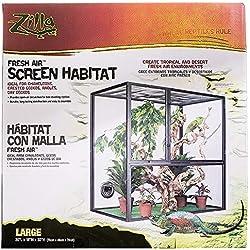 R-Zilla SRZ100011811 Fresh Air Screen Reptiles Habitat, 18 by 30-Inch