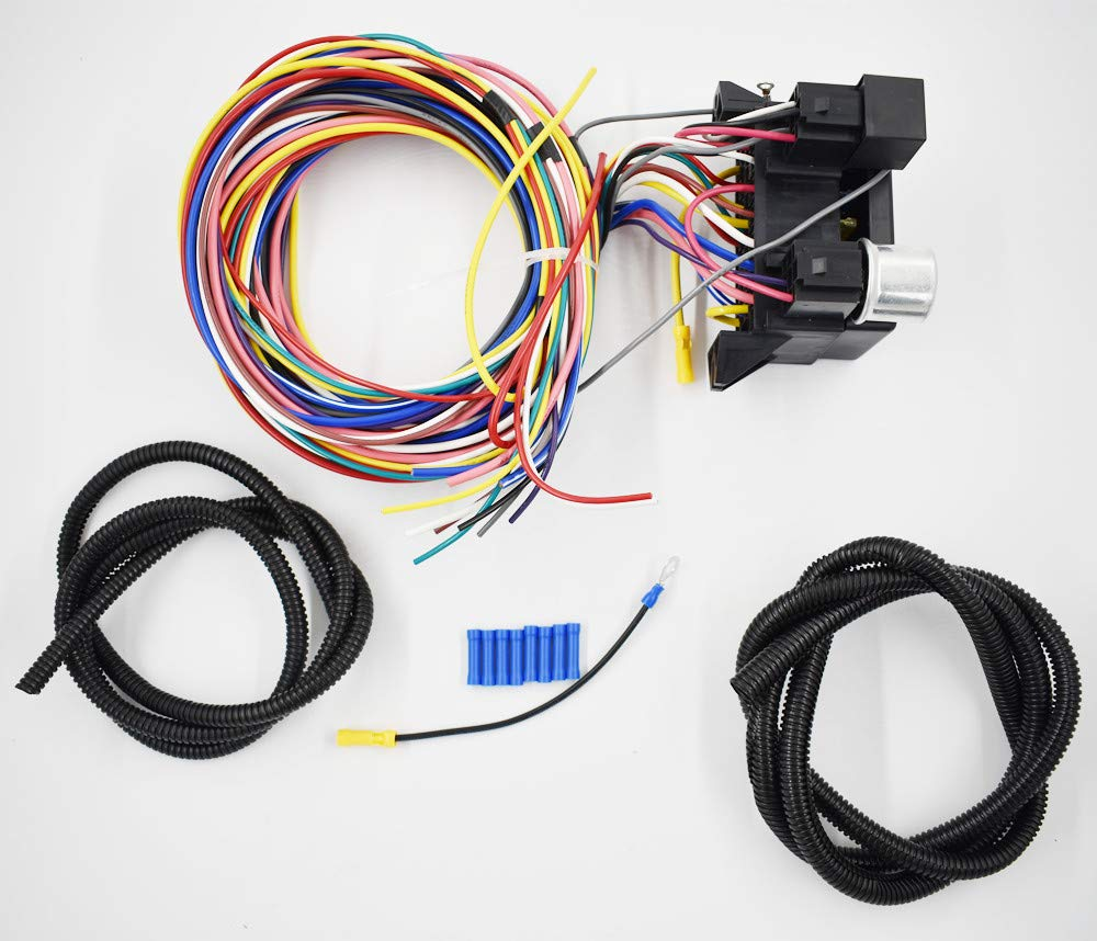 labwork 12 Circuit Universal Wiring Harness Muscle Car Hot Rod Street Rod XL Wires New by labwork