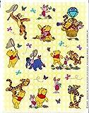 WINNIE THE POOH Disney 4 Sheets of Spring Stickers Piglet, Tigger Garden Flowers & Butterflies (Acid Free)