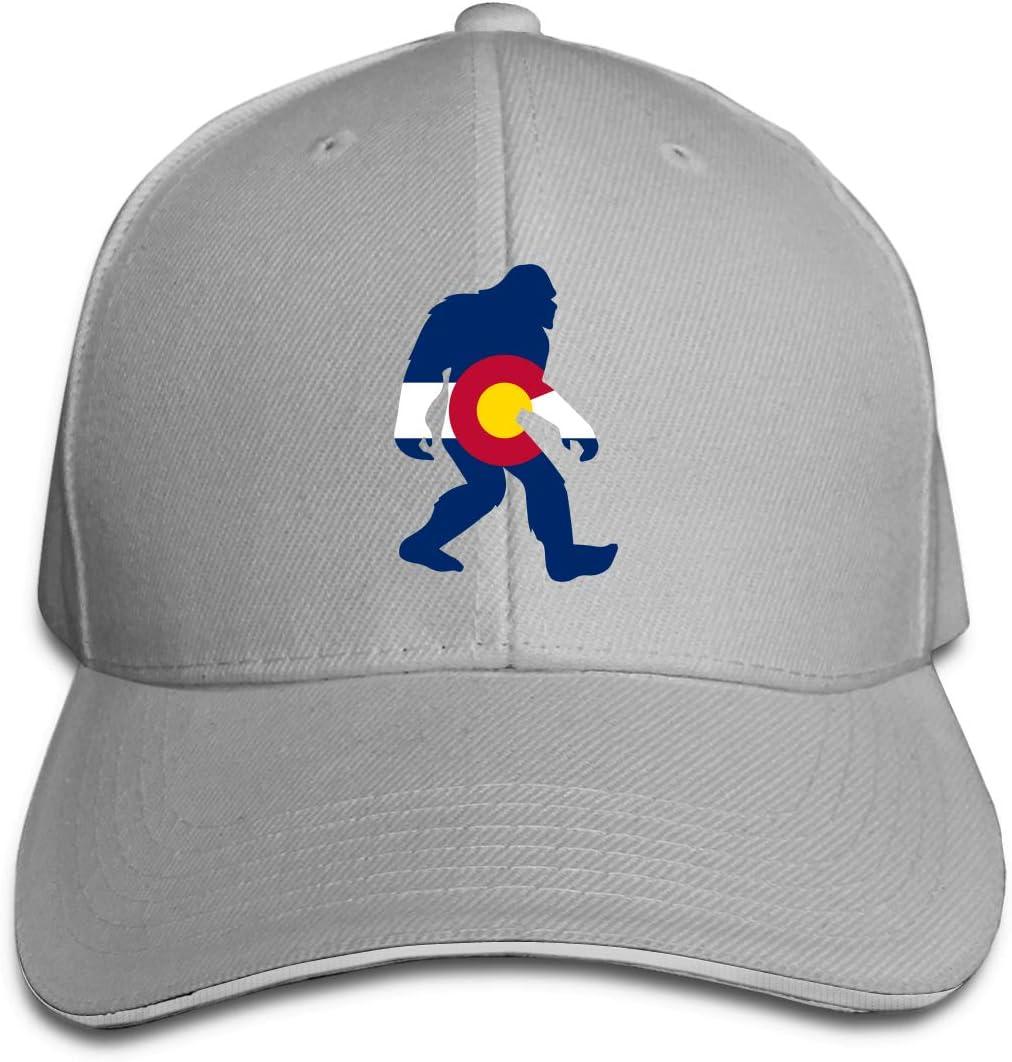 WFIRE Adult Baseball Caps Bigfoot Sasquatch Colorado Custom Adjustable Sandwich Cap Casquette Hats