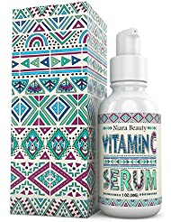 Vitamin C Serum for Eyes and Face – With Hyaluronic Acid for Acne, Anti Aging, Anti Wrinke – Fades Age Spots and Sun Damage - Organic Skin Care with Natural Ingredients for Men and Women – 1 FL OZ