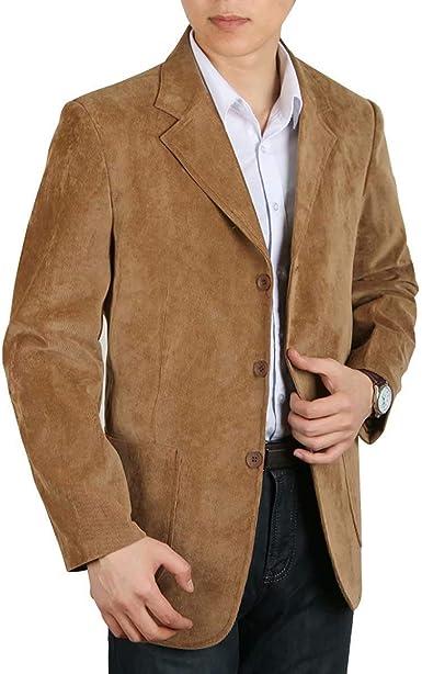 Chaqueta para Hombre De Pana De De De Esencial Pana Algodón Moda para Hombre Chaqueta De Abrigo Chaqueta De Hombre De Corte Slim Chaqueta Casual Blazer: Amazon.es: Ropa y accesorios