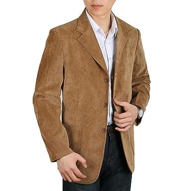 Saoye Fashion Chaqueta para Hombre De Pana De Algodón De ...