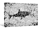 """Joeli JLER015 Shark Jaws Limited Edition Numbered Signed Gallery Wrap Canvas Wall Art, 36"""" x 24"""""""