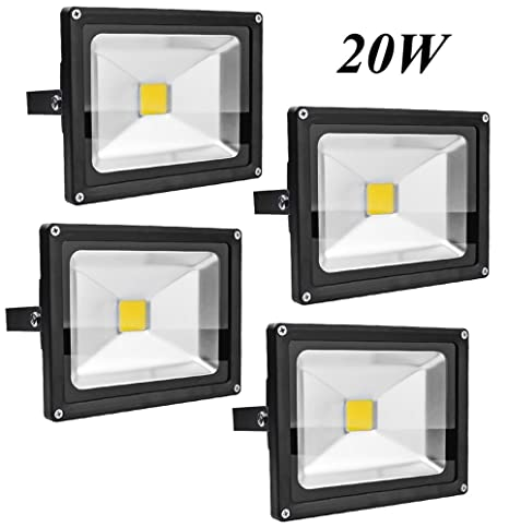 Leetop 4X 20W Foco LED Proyector de Luz Lámpara IP65 Impermeable ...