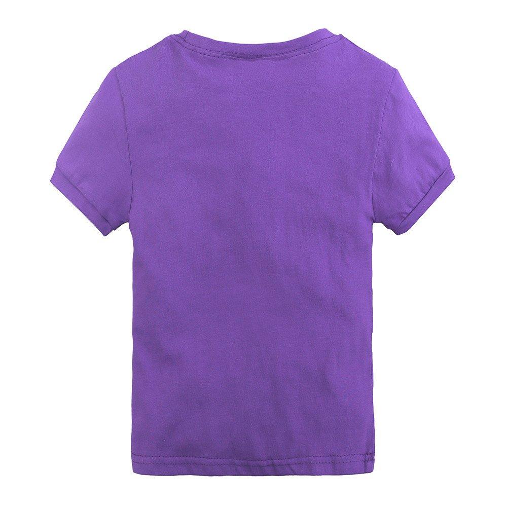 Summer Pajama Sets For Kids Girls,Baby Girls Cotton Tee Tops + Pajama Pants Girls Homewear Set(Purple,3 Years) by Wesracia (Image #3)