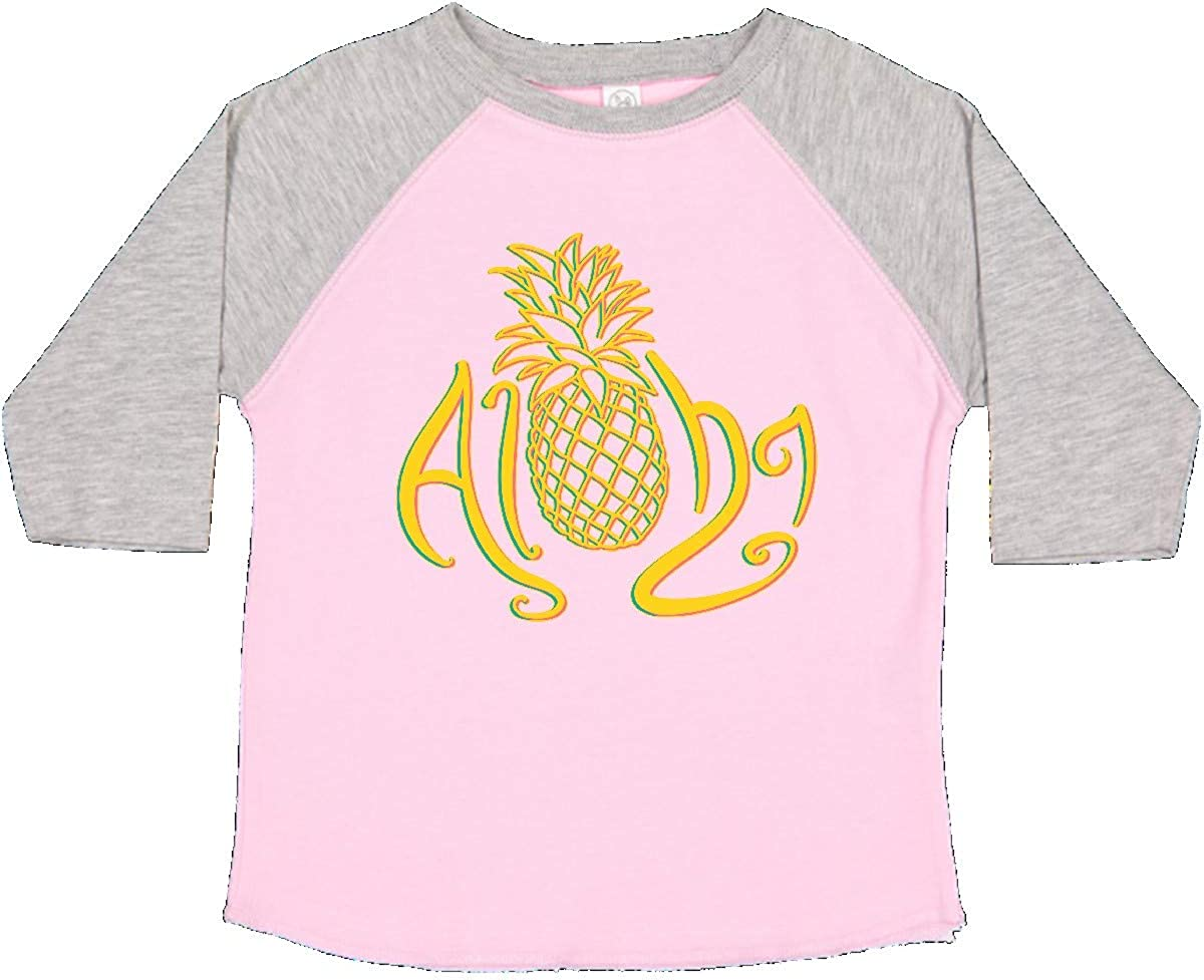inktastic Aloha with Multicolor Pineapple Toddler T-Shirt