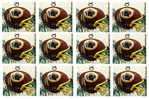Washington Redskins Set of 12 Holiday Christmas Tree Ornaments Featuring Redskins Team Ornaments Ranging from 1.5