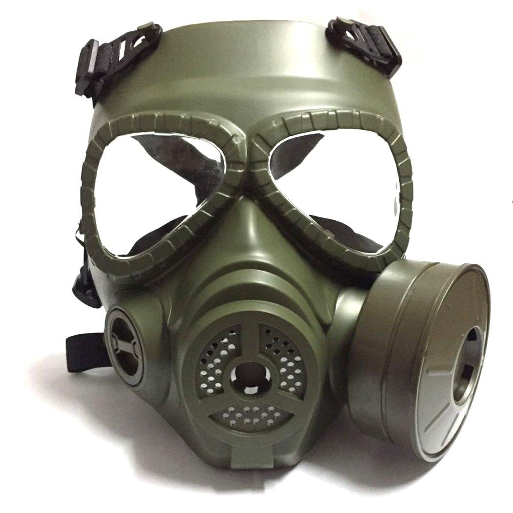 Táctico Máscara QMFIVE Dummy anti niebla máscara de gas M04 con ventilador Airsoft paintbal protección Gear(VERDE): Amazon.es: Deportes y aire libre