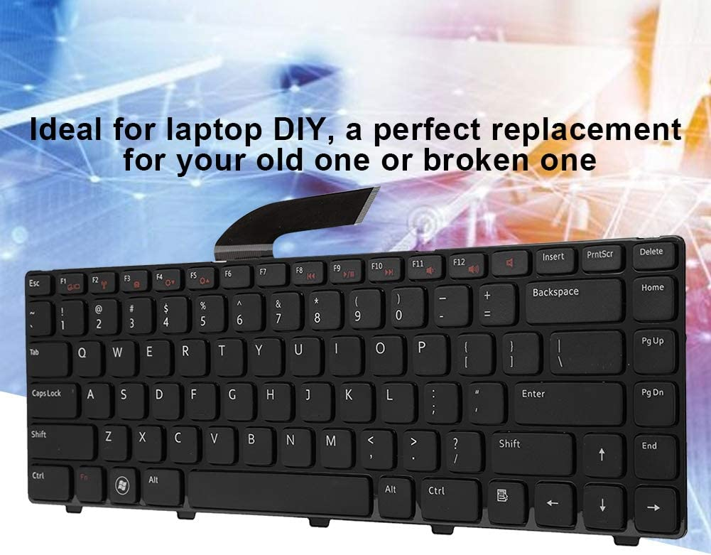 Replacement Keyboard Keyboard Repair Parts Compatible with Dell M421R//N4110//N4040//N4050//M4120//M4040//M4050//14VR Laptop