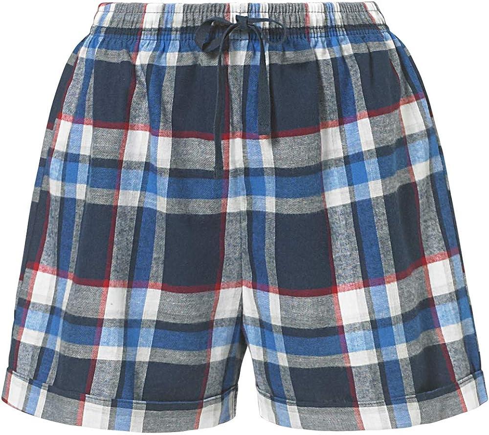 Love to Sleep Womens Pyjama Shorts Bottoms Check Pattern