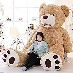 52 Inch Stuffed Teddy Bears With Big Footprints Plush Toys Light Brown