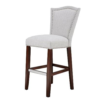 Amazing Amazon Com Nate 30 Inch Bar Stool Grey Multi See Below Inzonedesignstudio Interior Chair Design Inzonedesignstudiocom