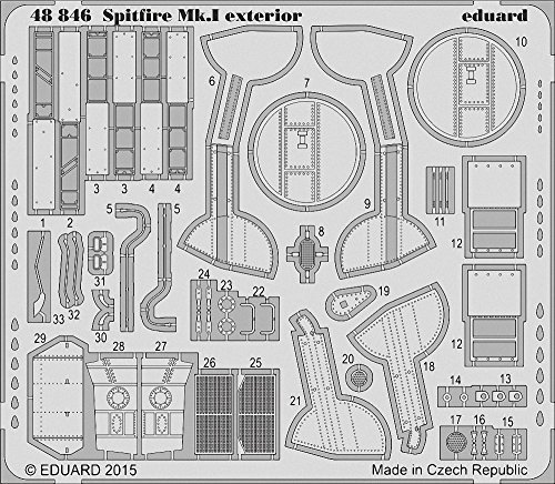 Eduard Photoetch 1 48 - Spitfire Mk.I Exterior(AIR05126) by Eduard