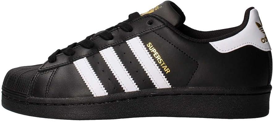 adidas Superstar Foundation Kids Trainers Black White - 5 UK