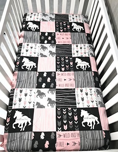 Baby/Toddler Blanket , Horse , Ranch , Horses , Stallion , Chevron , Toddler Bedding , Babylooms