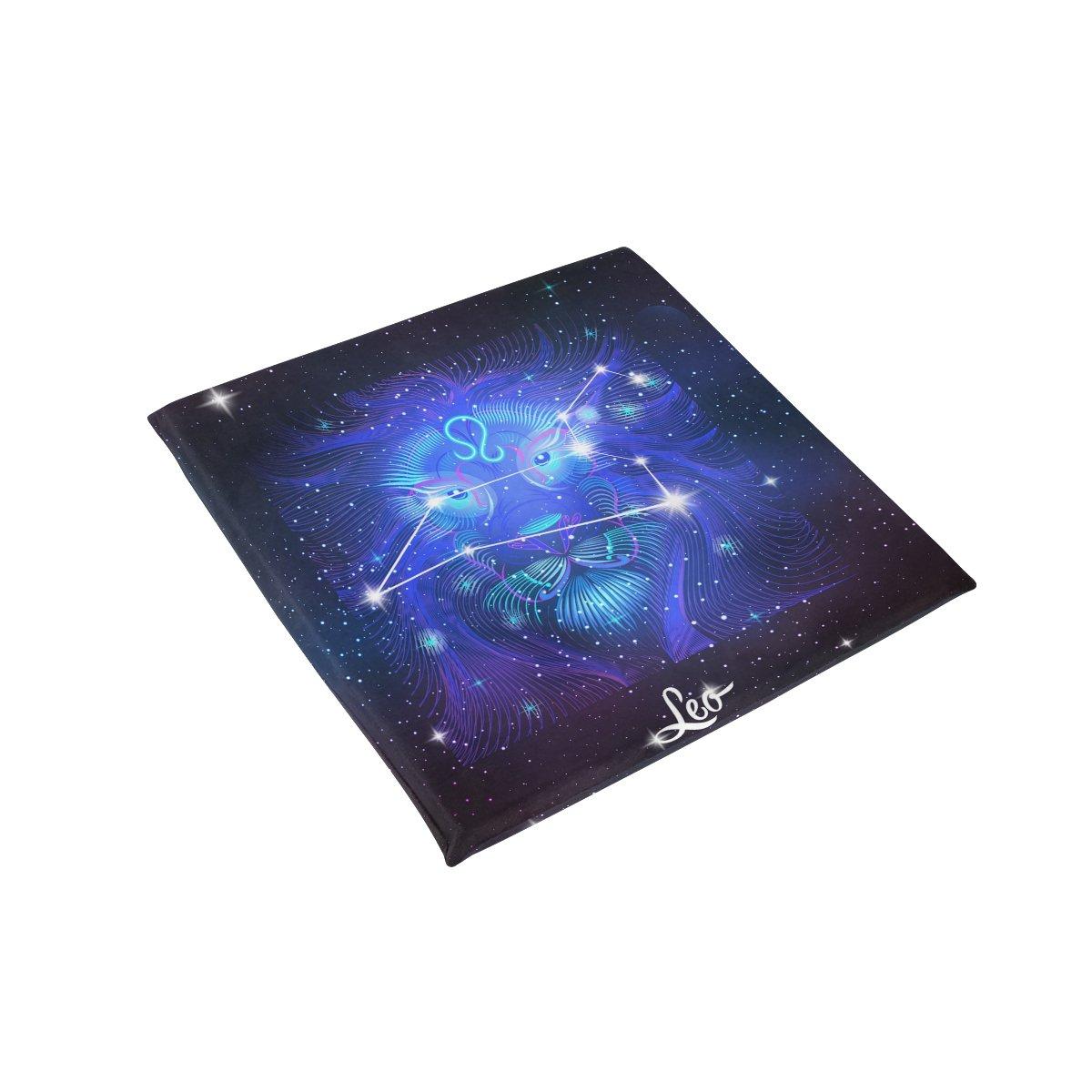 Constellation Zodiac Sign Leo Memory Foam Chair Pads Car Seat Cushion,16 x 16 inches