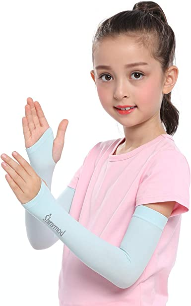Arm Sleeves for Kids SHINYMOD UV Cooling Warmer Protective Running Golf Cycling Driving Arm Cover