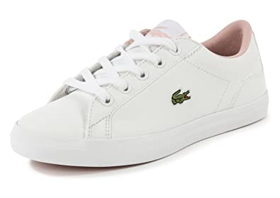 a3d4f62c2 Lacoste Girls Children Girls Lerond Trainers in White Pink - 13 Child