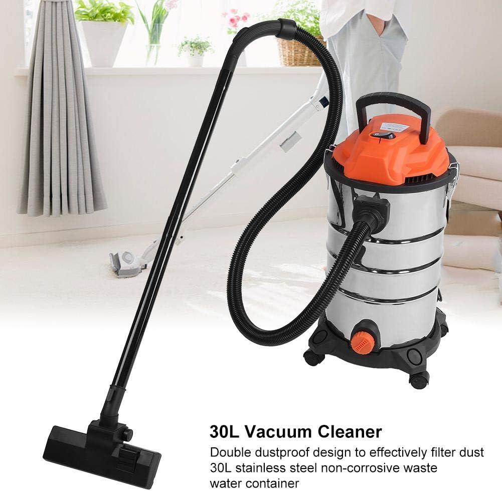 Aspirador seco/húmedo, 30 L, 1200 W, aspirador y líquido para limpieza, aspirador fuerte húmedo y seco para casa, filtro permanente de doble limpieza, enchufe europeo 220 V: Amazon.es: Hogar