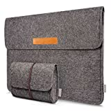 Inateck 15-15.4 Inch MacBook Pro 15 Retina Case Ultrabook Netbook Bag Carrying Case Cover with Pocket, Dark Gray