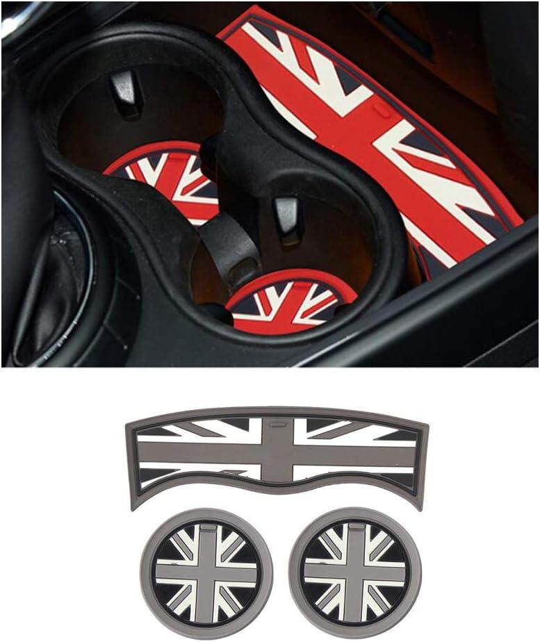 3pcs Black White Gel Silicone Car Anti-Slip Interior Coffee Tea Cup Mat Pad Coaster Car Styling For Mini Countryman F60 Accessories