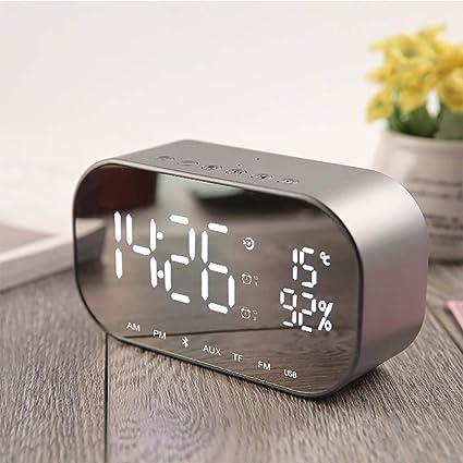 Tofree Miroir R/éveil lampe de r/éveil /écran LED R/éveil /électronique Cadeau de chambre /à coucher de chevet Average gris argent/é