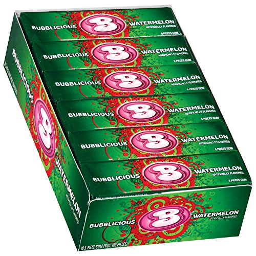 Watermelon Bubble Gum - Bubblicious Watermelon Wave Bubble Gum 18 packs (5ct per pack)