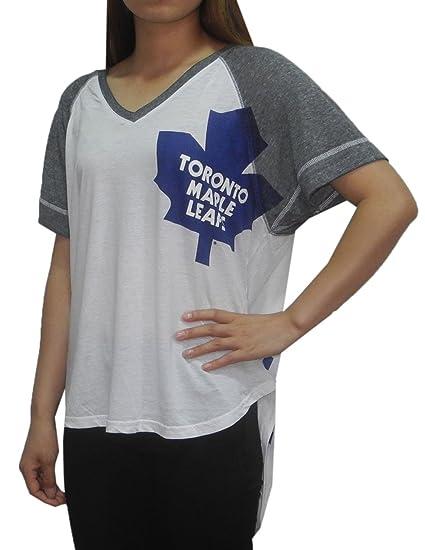 Amazon.com  NHL Womens TORONTO MAPLE LEAFS  Athletic Loose Fit V ... 475c13123