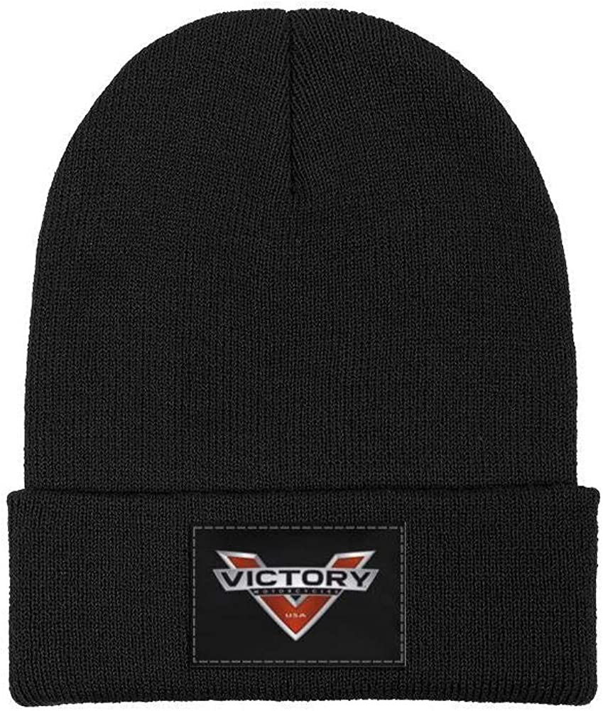Soft Fine Acrylic Winter Warm Fine Knit Mens Womens Beanie Skull Hats Victory-Motorcycle-Logo