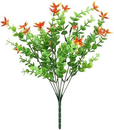 Nrpfell Plantas Falsas Artificiales 4 Piezas Arbustos Verdor Falso Arbusto De Pla Stico De Simulacion Decoracion De Balcon Boda DIY Jardinera Colgante Exterio Interior