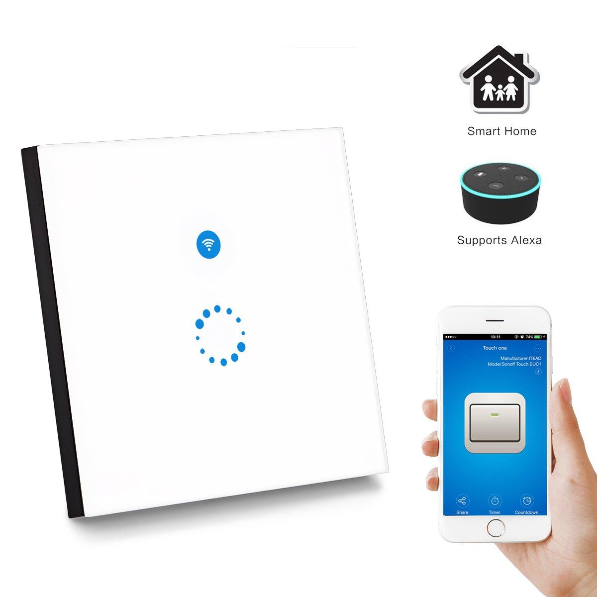 Sonoff Touch Schalter 1-Weg Touchscreen Lichtschalte: Amazon.de ...