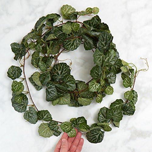 Amazon Com Artificial Broad Leaf Ivy Garlands 2 Garlands Kitchen Dining